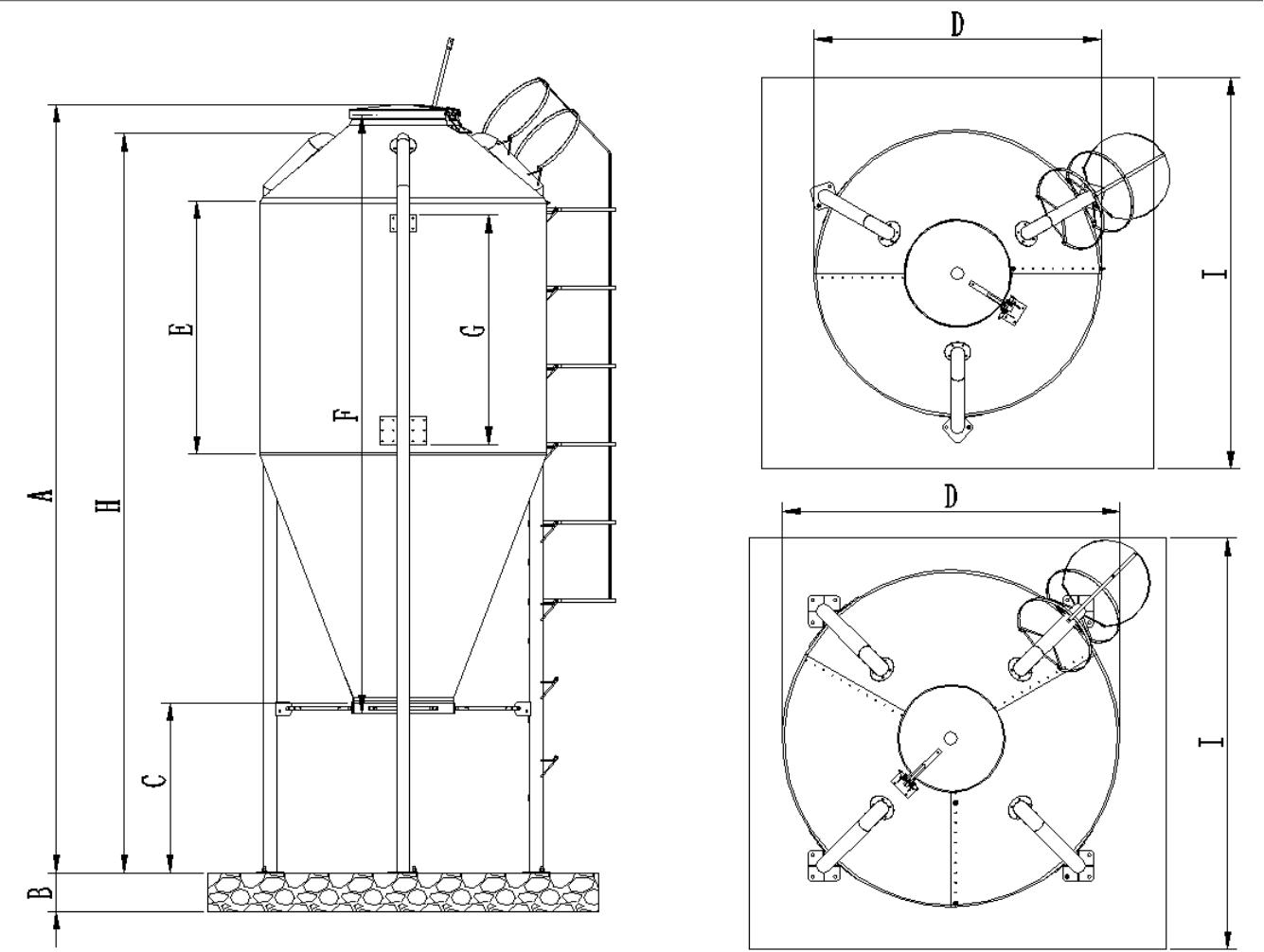 12.5MC玻璃钢料塔(7.5吨)(图1)